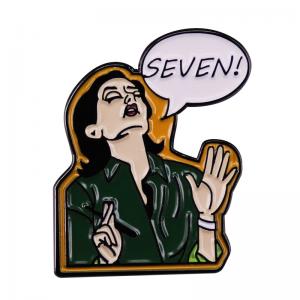 friends seven enamel pin 1